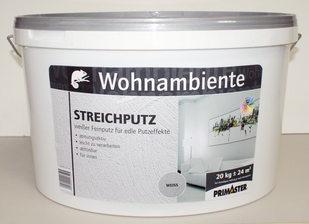 primaster streichputz 20 kg weiss putz von der rolle ebay. Black Bedroom Furniture Sets. Home Design Ideas