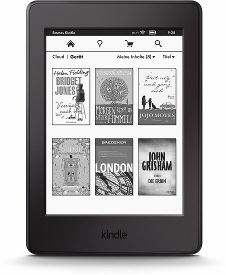 Kindle E-Book Reader Paperwhite schwarz