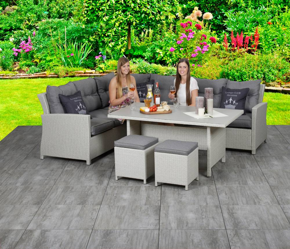 primaster dining lounge set havanna gartenm bel set sitzgarnitur sitzgruppe ebay. Black Bedroom Furniture Sets. Home Design Ideas