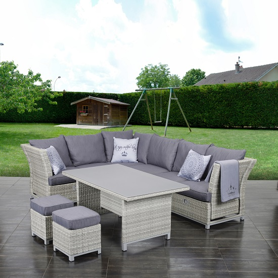 primaster dining lounge m belset imperia 3 in 1 funktion gartenm bel ebay. Black Bedroom Furniture Sets. Home Design Ideas