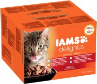 Iams Delights Katzennassfutter Land & See Collection in Gelee