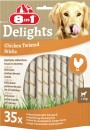 8in1 Delights Hundesnack Twisted Sticks