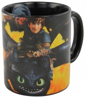 Dreamworks Dragons Ohnezahn & Hicks Tasse Flammenmotiv